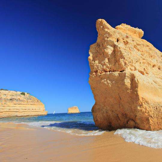 As praias douradas do Algarve