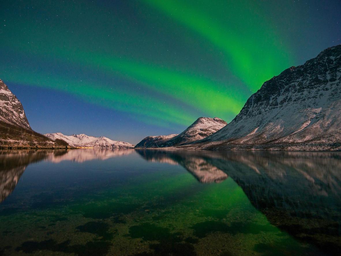 A Aurora Boreal sobre Tromsø
