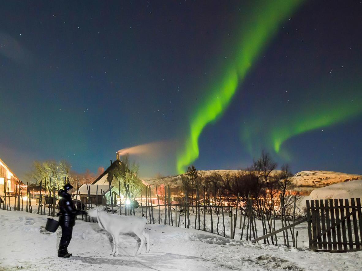 Kirkenes é um ponto particularmente remoto para ver a Aurora Boreal