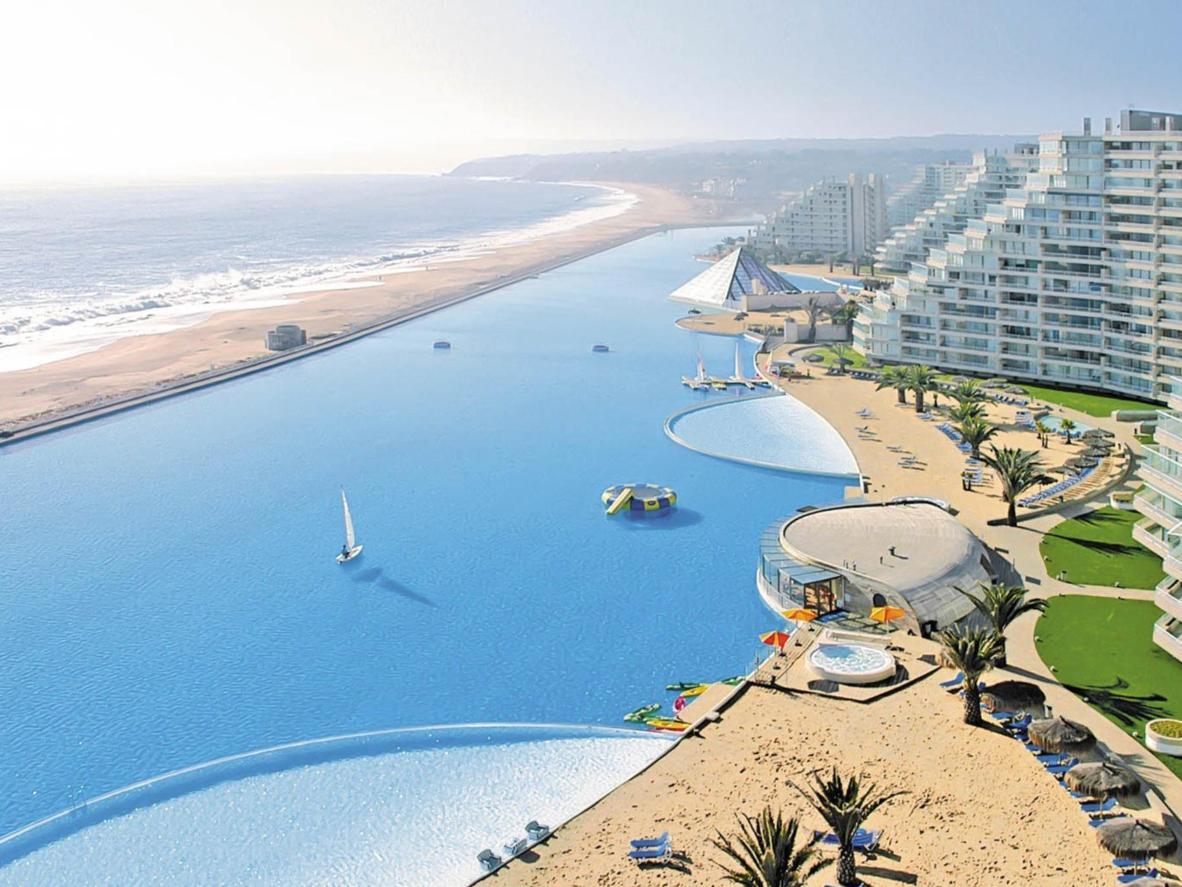 A piscina de San Alfonso Del Mar é a maior piscina ao ar livre do mundo