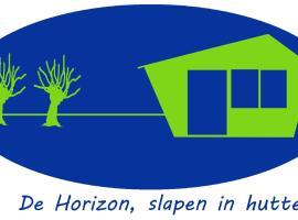 De Horizon, slapen in hutten, Kloosterburen