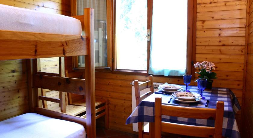 A chalet cabin at Camping Panoramico Fiesole above Florence