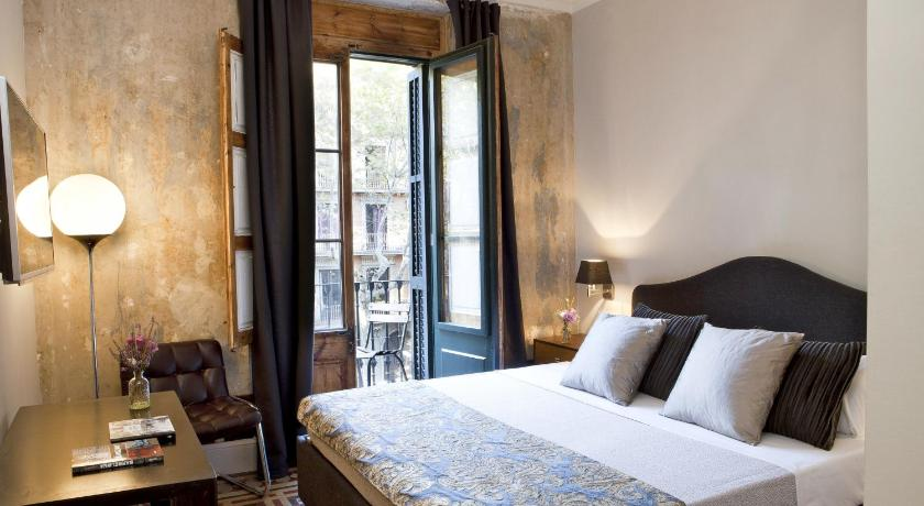 > We Boutique Hotel Barcelona dans la Vieille Ville de Barcelone.