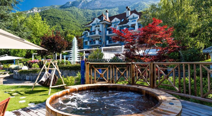 Hotel yoann conte bord du lac veyrier du lac france for Hotel du jardin menu