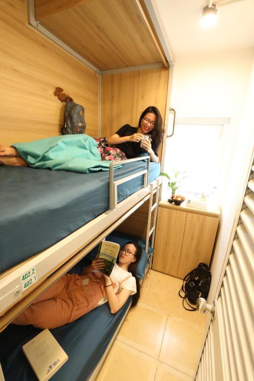 Phòng 2 Giường đơn với Phòng tắm Chung