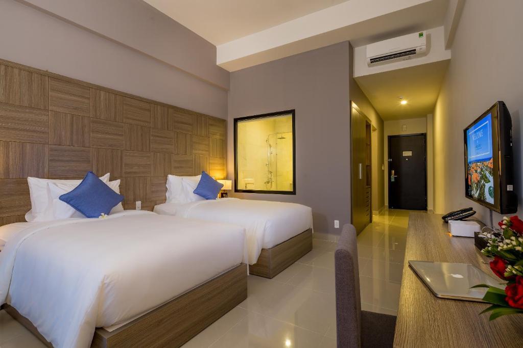 Phòng Deluxe 2 Giường Đơn Với Quyền Sử Dụng Spa Hàng Ngày
