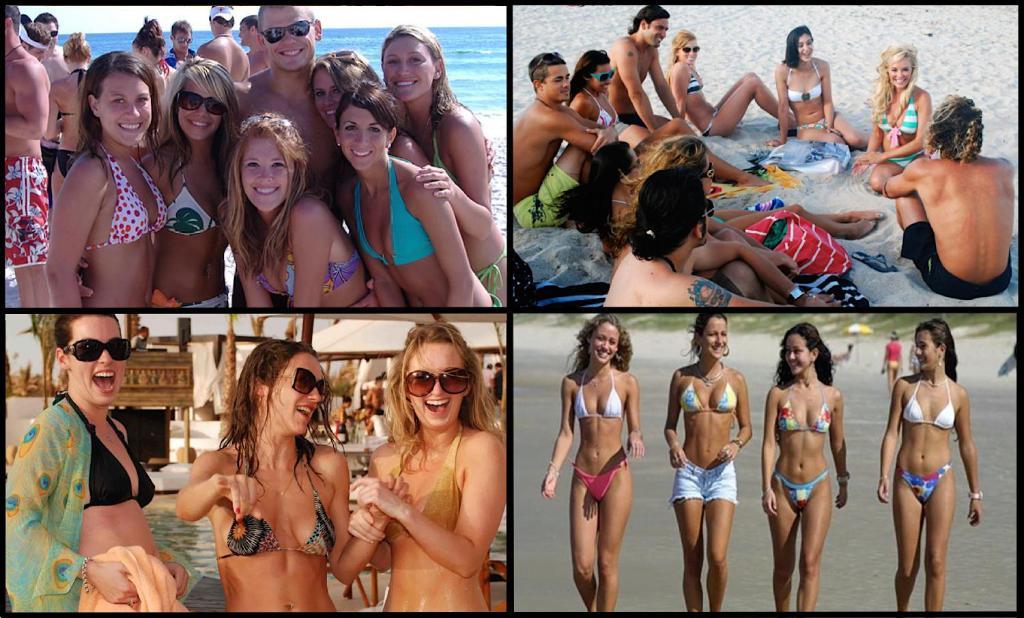 Miami beach bikini fun