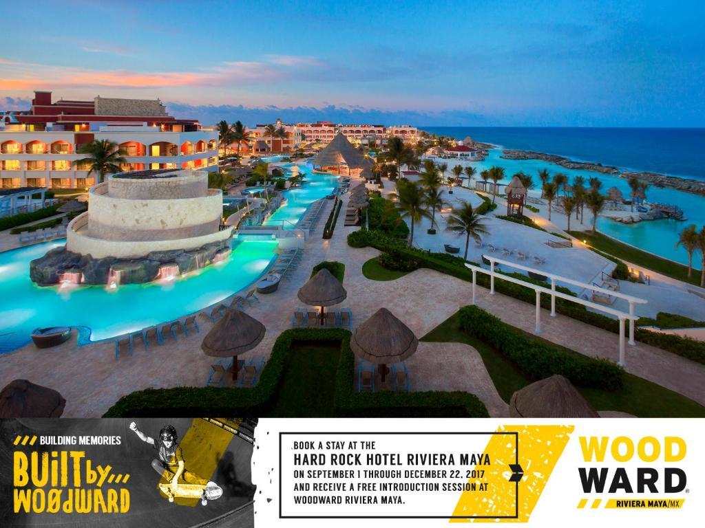 Uma vista da piscina em Hard Rock Hotel Riviera Maya- Heaven Section (Adults Only) All Inclusive ou nos arredores