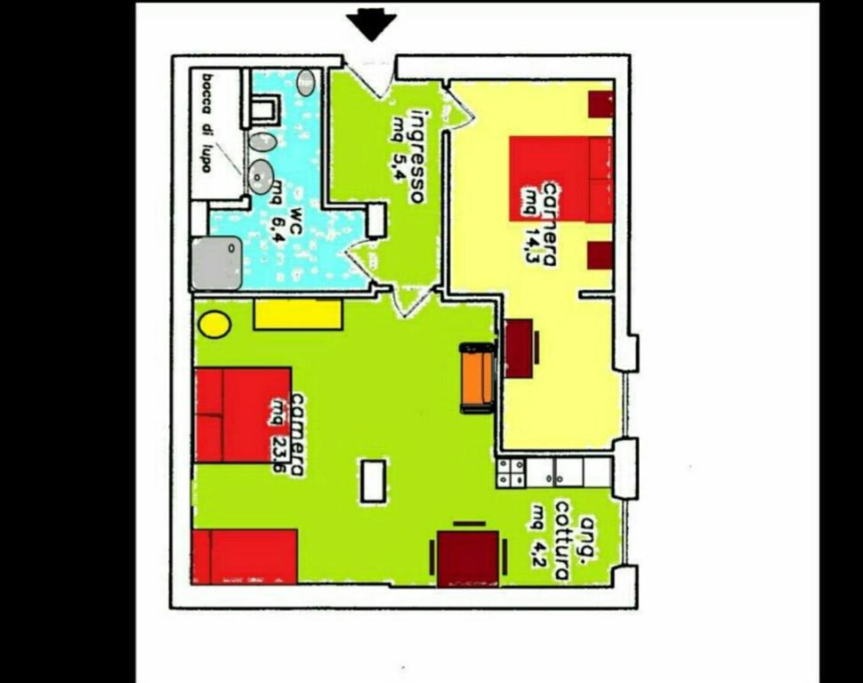 Casa vacanze nei colori rome online booking viamichelin - Casa a colori ...