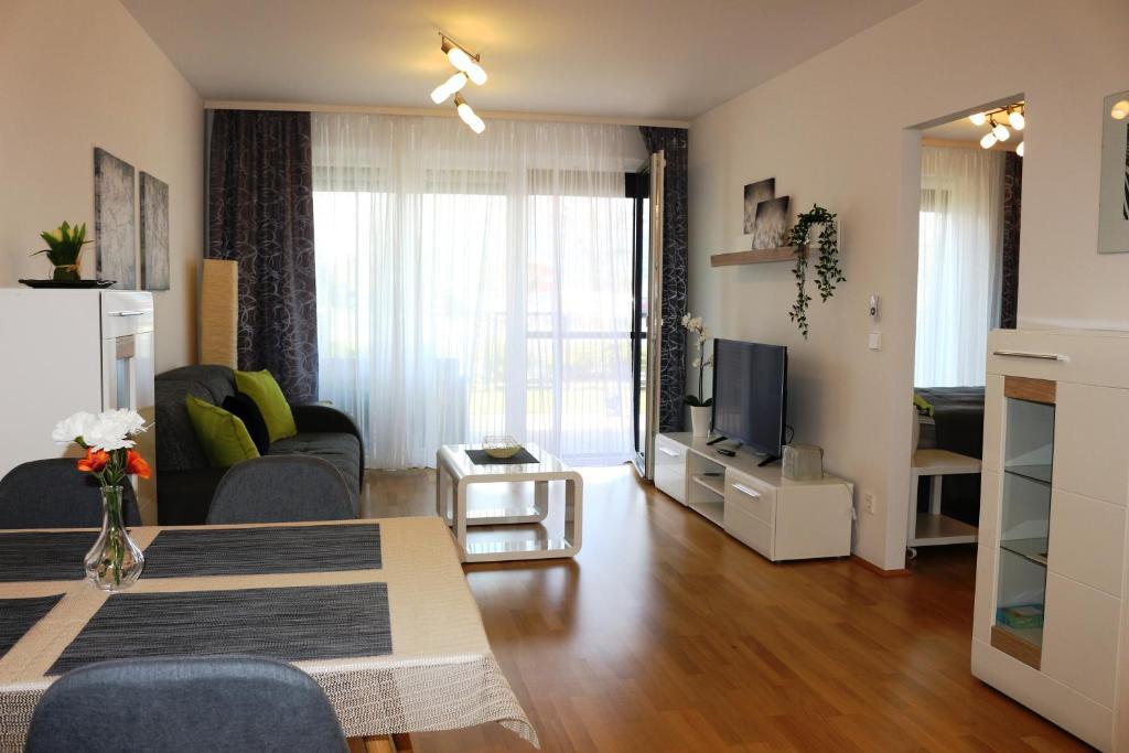 منطقة جلوس في Komfort Apartments Alte Donau/Donauzentrum