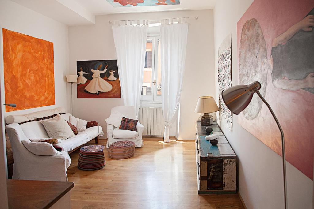 Uma área de estar em Casa d'artista