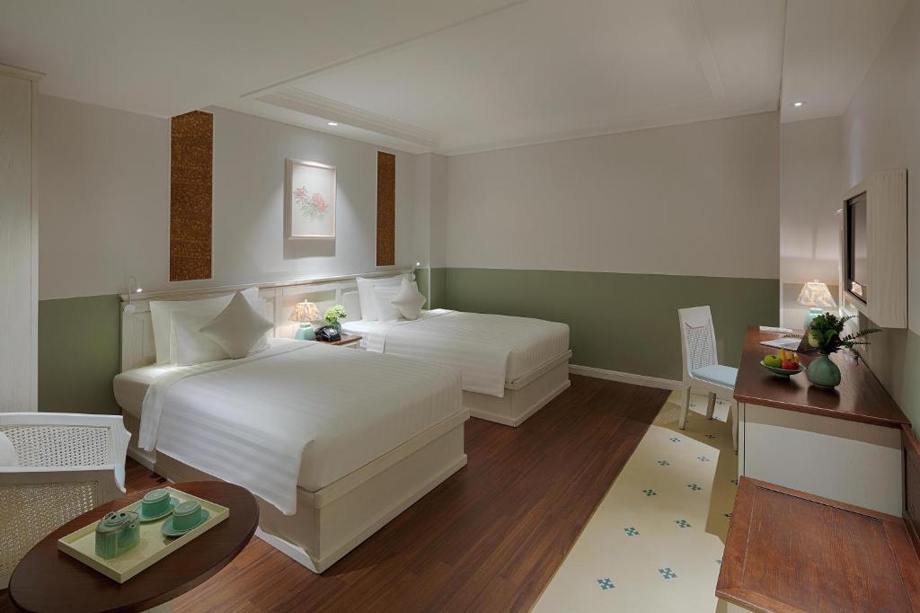 Phòng Deluxe 2 Giường đơn (Không Cửa sổ)