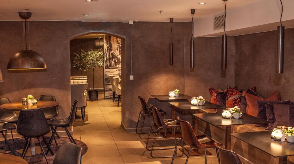مطعم أو مكان آخر لتناول الطعام في شقق ساغا أوسلو