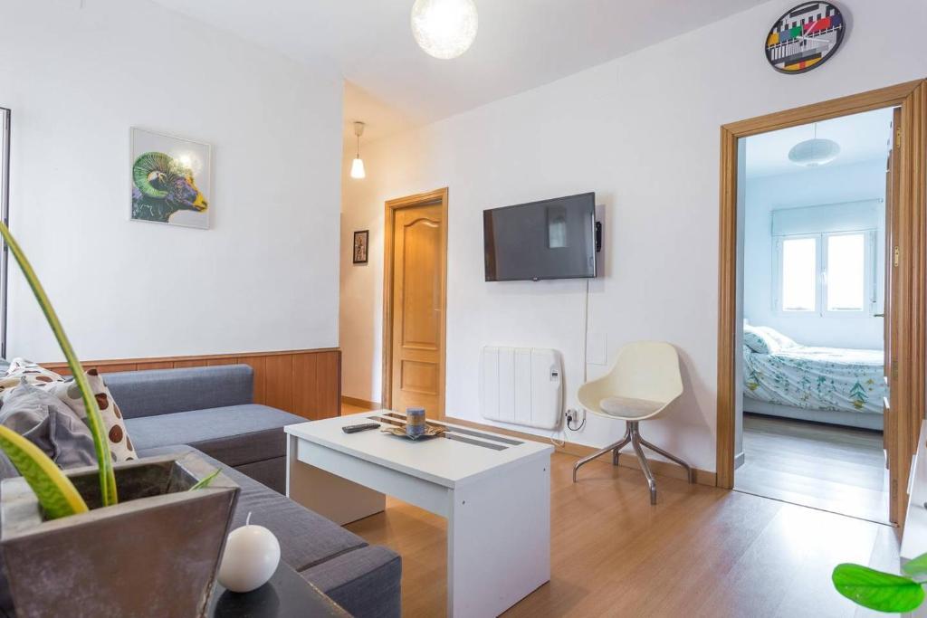 אזור ישיבה ב-Apartamento Urgel