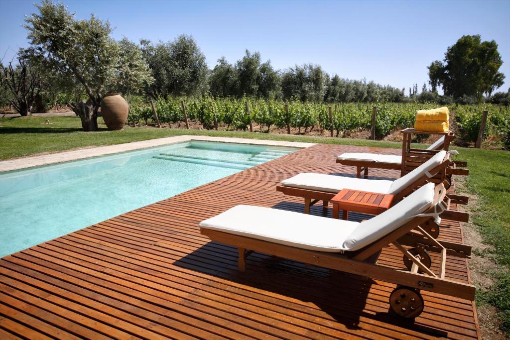 A piscina localizada em Club Tapiz ou nos arredores