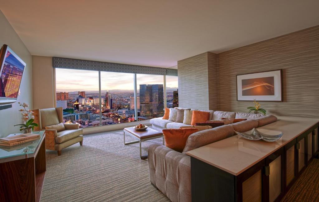 Un lugar para sentarse en Elara by Hilton Grand Vacations - Center Strip