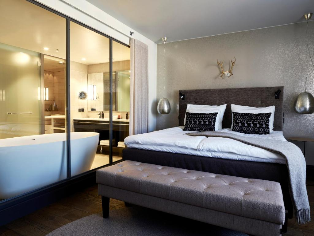 מיטה או מיטות בחדר ב-Lapland Hotels Bulevardi