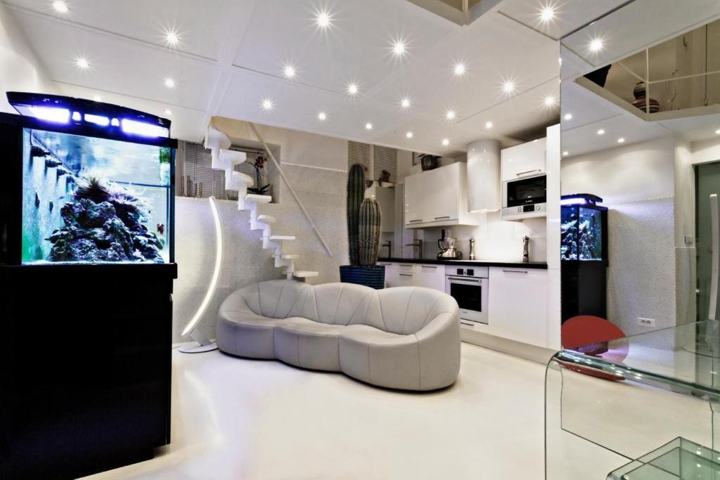 Appartement stylish luxury duplex paris city center for Duplex appartement paris