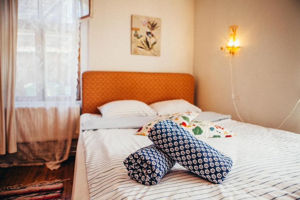 מיטה או מיטות בחדר ב-Marta Guesthouse Tallinn