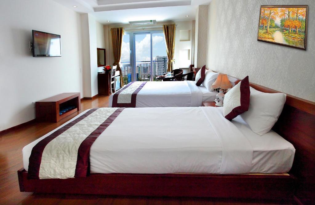Phòng Grand Deluxe Giường đôi với ban công.
