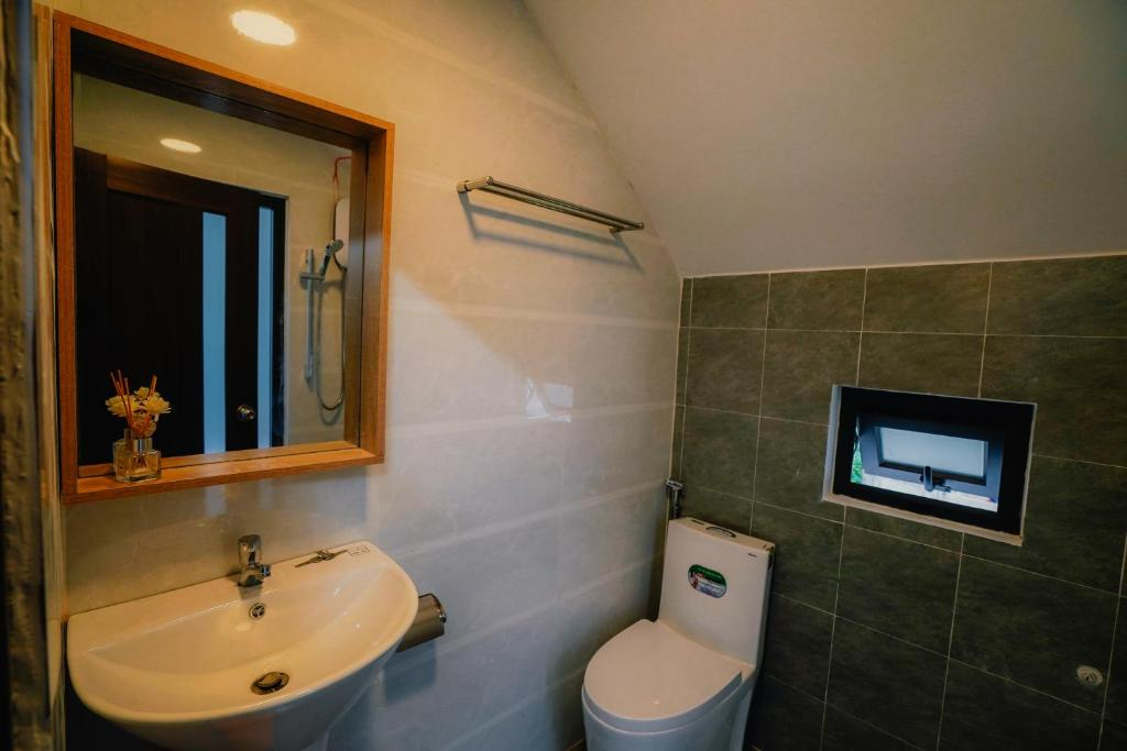 Phòng tắm tại Soulmate Homestay Đà Lạt