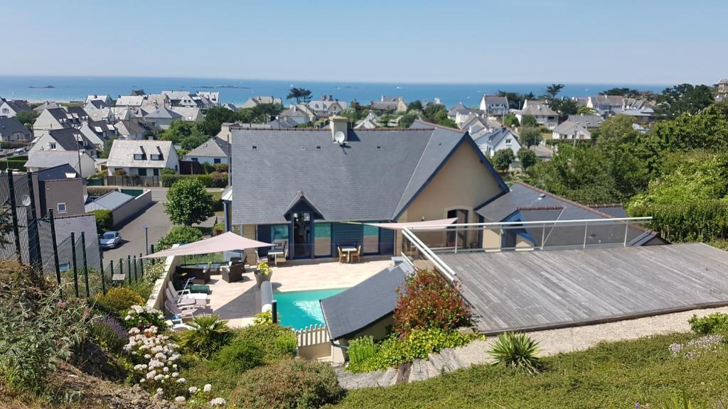 Tầm nhìn từ trên cao của villa belle etoile