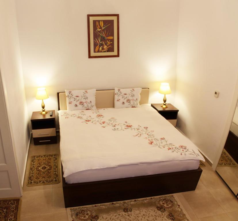 מיטה או מיטות בחדר ב-Casa Graef