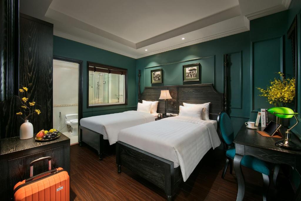 Phòng Deluxe 2 Giường đơn - Không có Cửa sổ
