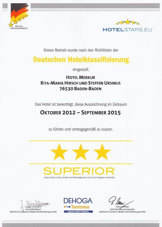 Merkur Hotel Baden Baden