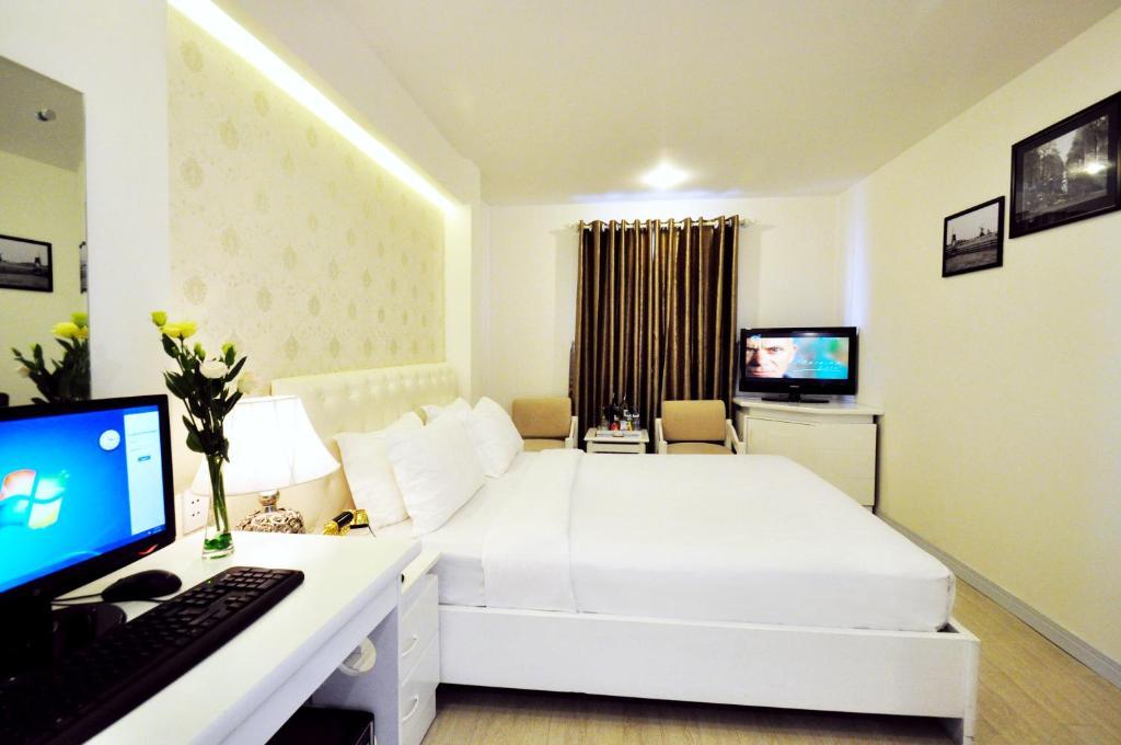 Phòng VIP Giường Đôi Nhìn ra Thành phố