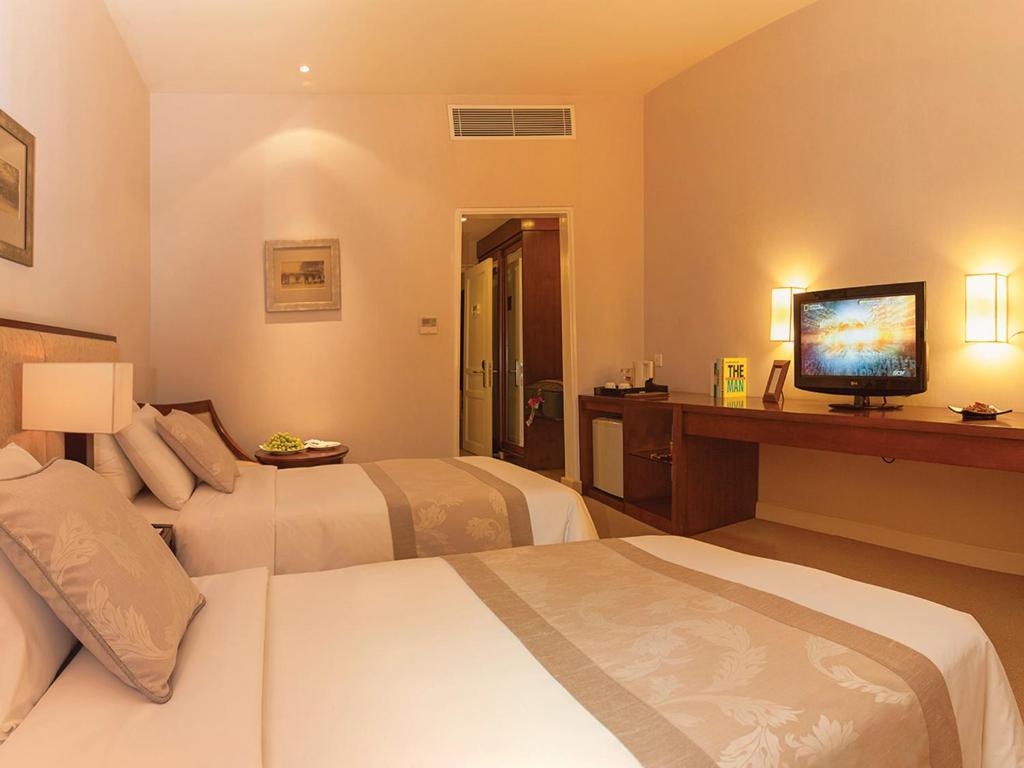 Phòng Deluxe 2 Giường Đơn Không có Cửa sổ