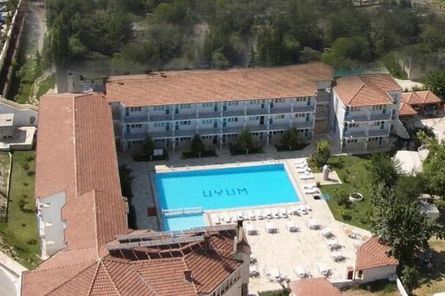 Una vista aérea de Uyum Hotel