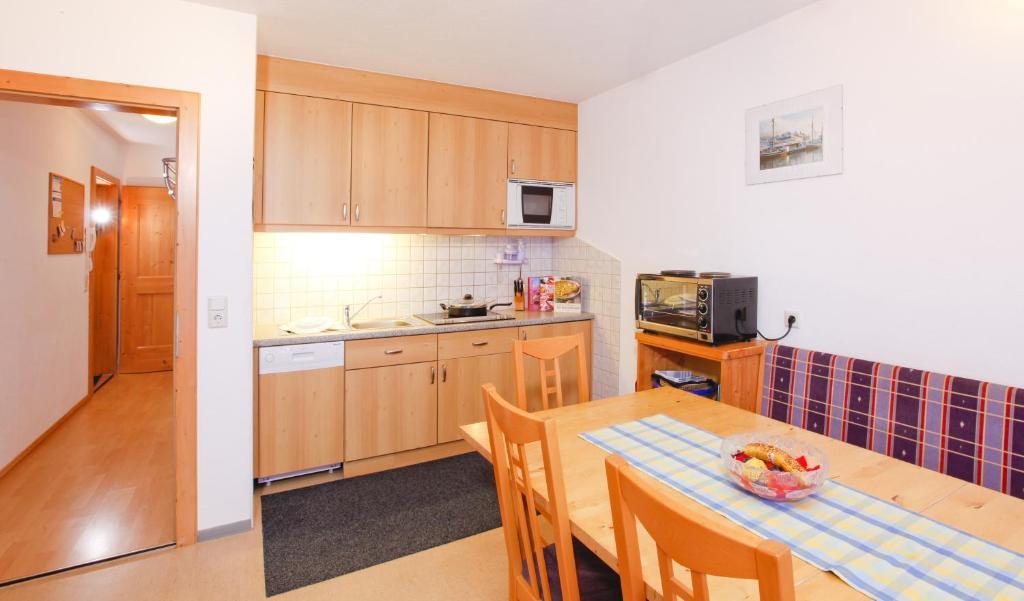 Nhà bếp/bếp nhỏ tại Haus Berthold