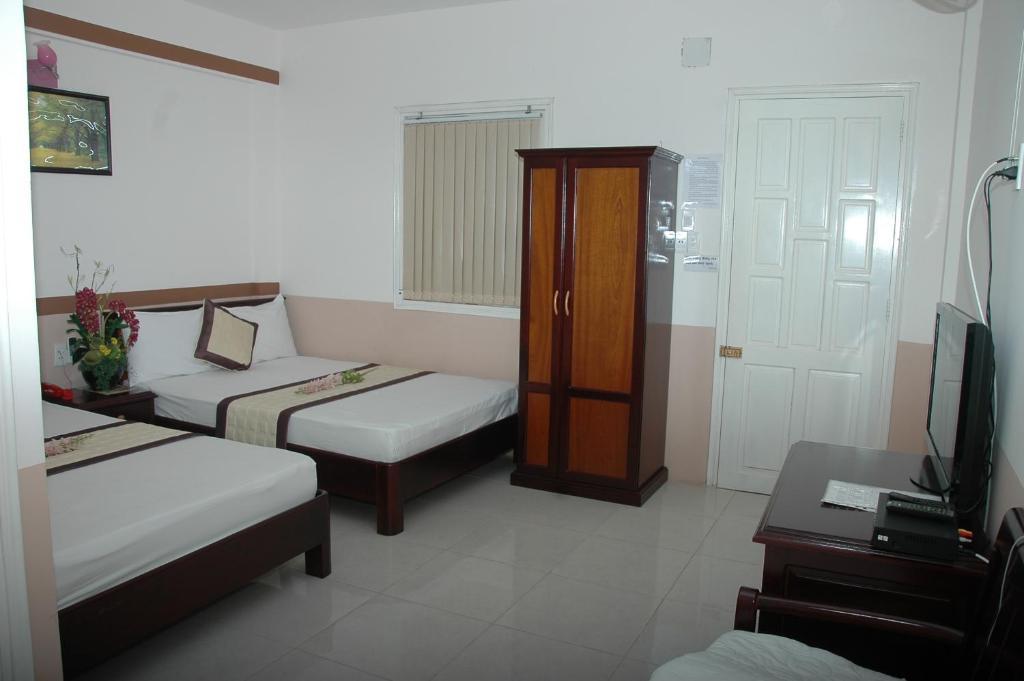 Phòng 2 giường đơn Tiêu chuẩn nhìn ra vườn