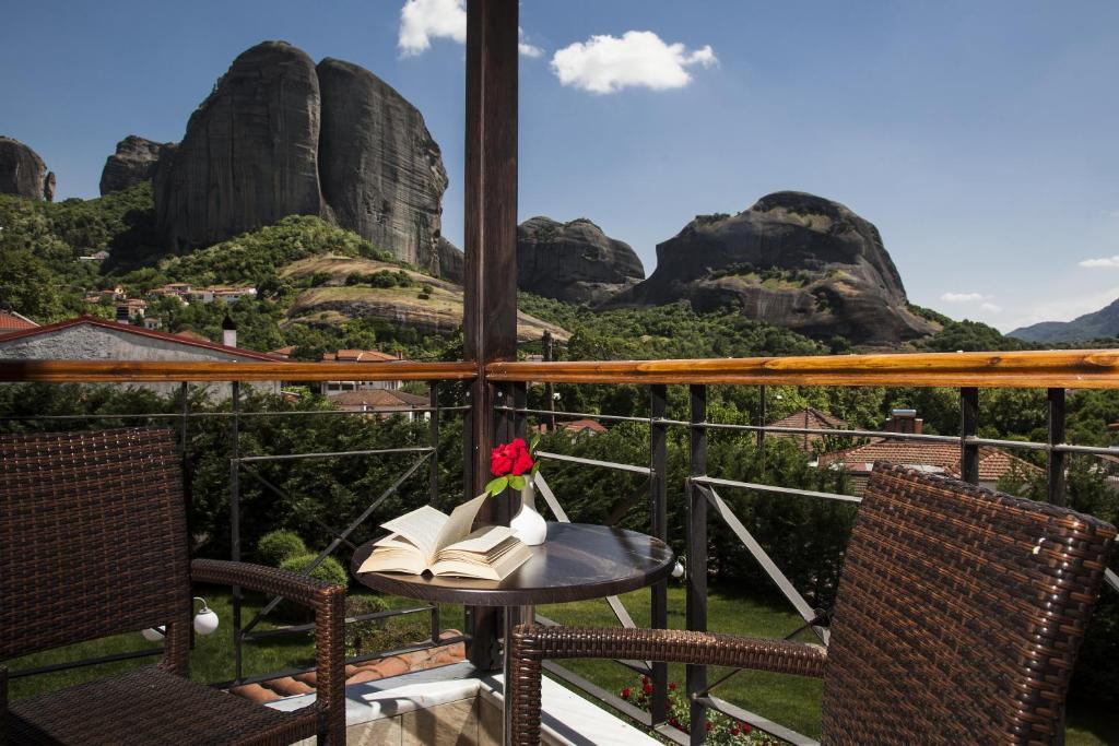 Uma vista da montanha tirada do hotel