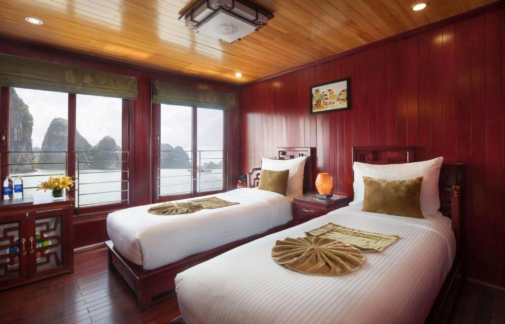 Phòng Giường đôi/2 Giường đơn Nhìn ra Đại dương - 3 Ngày 2 Đêm Trên Tàu