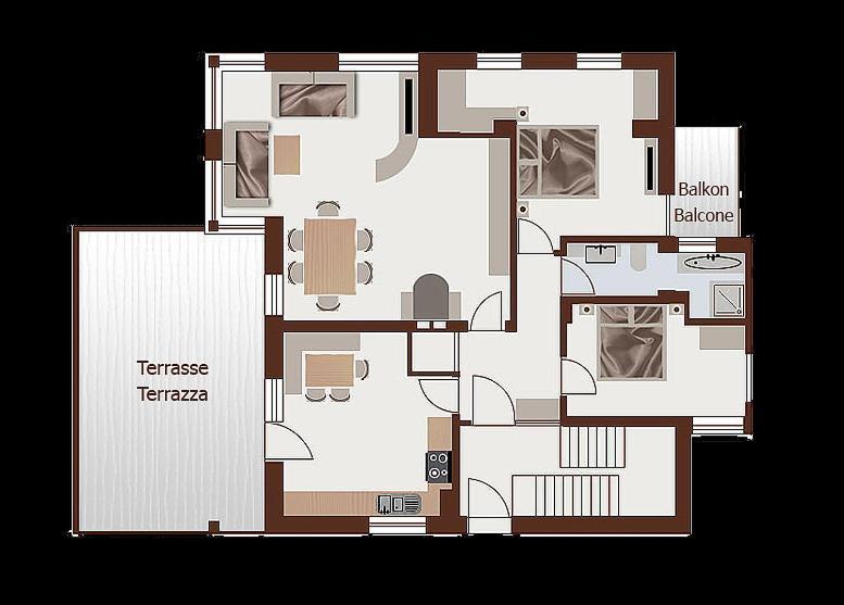 Villa tanja kastelruth prenotazione on line viamichelin for Foto di appartamenti arredati