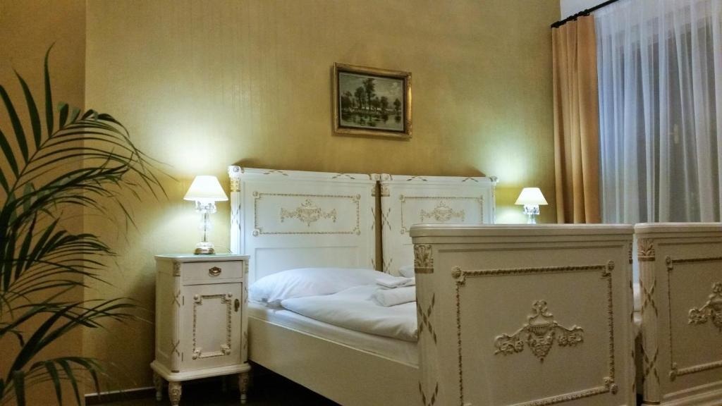Cama ou camas em um quarto em Old Prague House