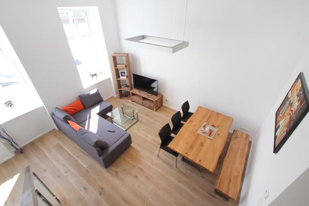 Khu vực ghế ngồi tại Anna Maria Apartments