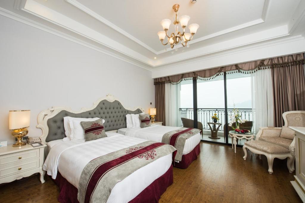 Phòng Deluxe 2 Giường Đơn Nhìn Ra Biển - Chỉ Bao Bữa Sáng