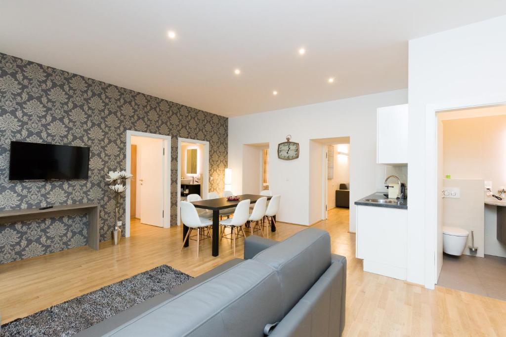 אזור ישיבה ב-Vienna Stay Apartments Tabor 1020