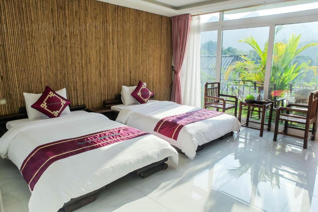 Phòng Deluxe 2 Giường đơn Nhìn ra Núi và Thung lũng