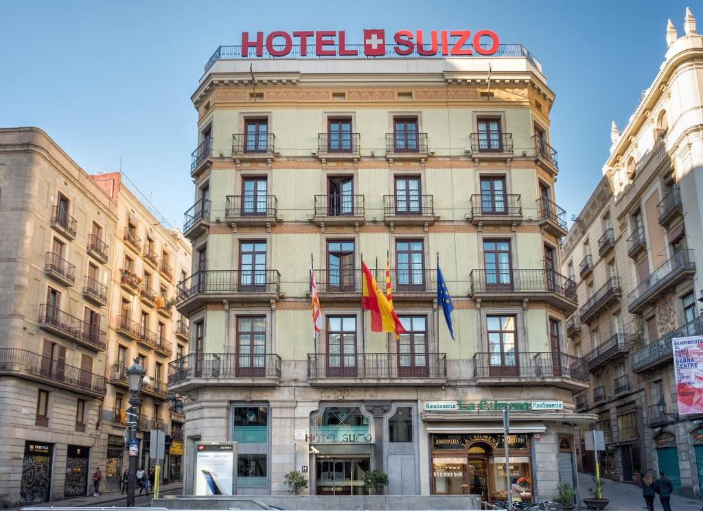 Hotel suizo barcelona book your hotel with viamichelin for Hotel de paris barcelona