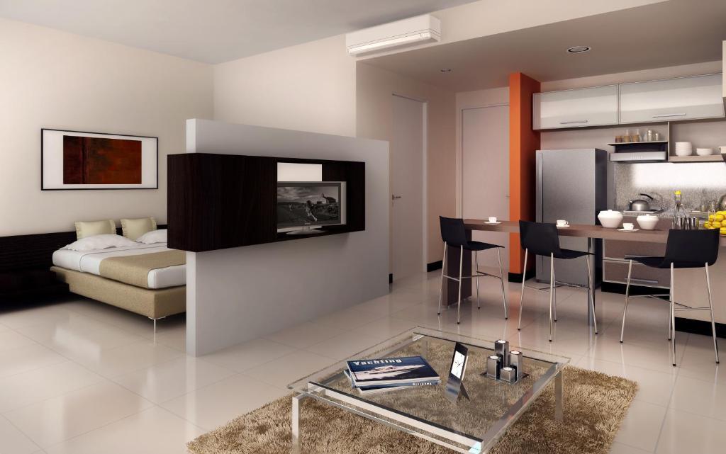 Aparthotel lecer argentina buenos aires for Decoracion apartamento tipo estudio