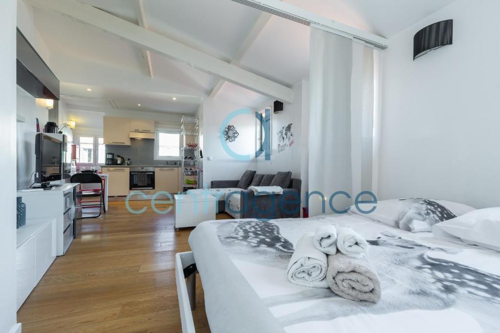 appartement sous les toits studio vieux nice. Black Bedroom Furniture Sets. Home Design Ideas