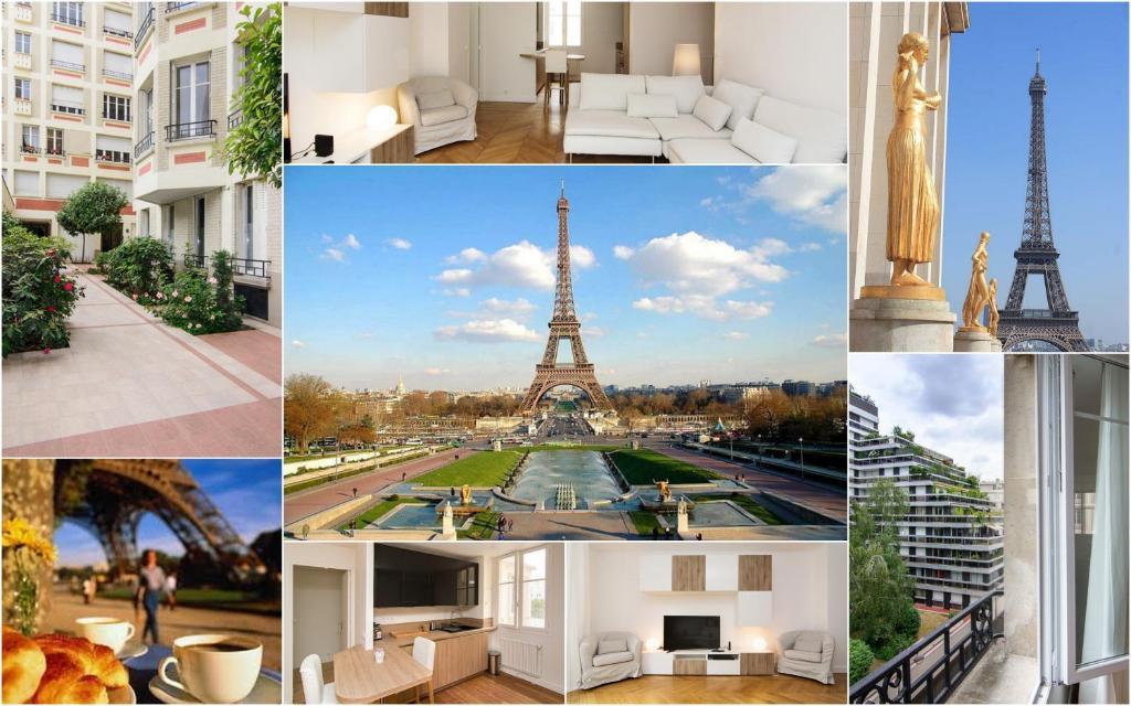 Luxury apartment near eiffel tower paris france for Apartment in eiffel tower