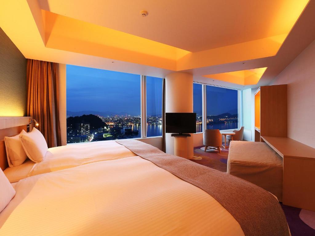 Una habitación de Grand Prince Hotel Hiroshima