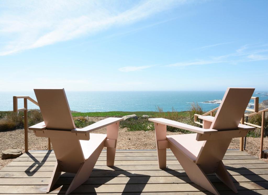Uma varanda ou outra área externa em Timber Cove Resort