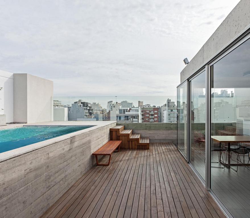 Uma varanda ou outra área externa em Palermo Hollywood Apartment