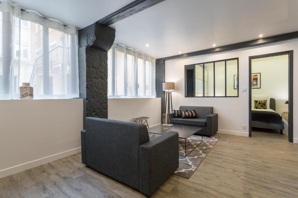 appartement atelier d 39 h l ne locations de vacances lyon. Black Bedroom Furniture Sets. Home Design Ideas